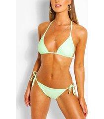 mix & match triangle bikini top, mint