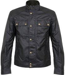 belstaff racemaster dark navy waxed jacket 71020198