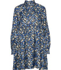 jasmine, 806 silk twill korte jurk blauw stine goya