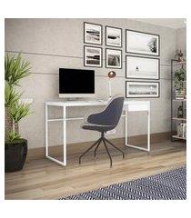 mesa escrivaninha escritório home office elisa novabras 1 gaveta