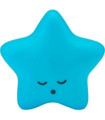 abajur decorfun  luminaria beb㪠infantil estrela azul com fio e adesivo - azul - feminino - dafiti