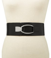 inc interlocking-hook plus-size stretch belt, created for macy's