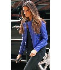handmade the runways: kristen stewart (joan jett) leather jacket, fashion jacket