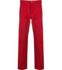 comme des garçons shirt straight-leg trousers - red