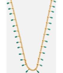 isabel marant women's casablanca resin necklace - pacific