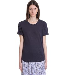isabel marant étoile koldi t-shirt in blue linen