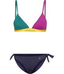 color block triangle bikini bikini multi/mönstrad bobo choses