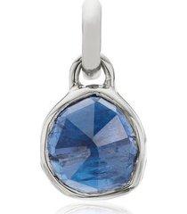 sterling silver siren mini bezel pendant charm kyanite