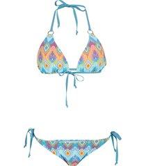 bikini (set 2 pezzi) (blu) - rainbow