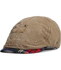 cappelli del berretto della visiera di viaggio di vinatge della corsa dei berretti piatti della primavera del cotone di estate degli uomini regolabili