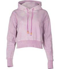 pink tie dye cropped hoodie