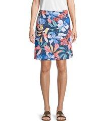 floral linen skirt