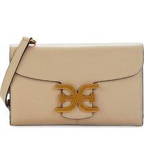 sam edelman women's mini randi leather crossbody bag - sand