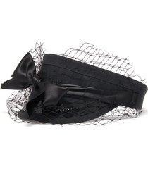 bow sequin cotton visor