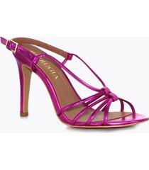 sandalia tacón alto rosa perugia 94149na-ro