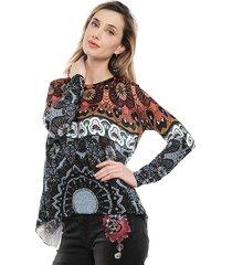 sweater desigual multicolor - calce holgado