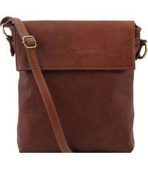 tuscany leather tl141511 morgan - borsa a tracolla in pelle marrone