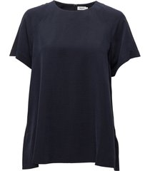 trapeze tunic blouses short-sleeved blauw filippa k