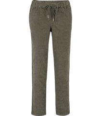 pantaloni di velluto  con cordoncino (verde) - bpc bonprix collection