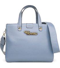 bolsa alice monteiro grandes alça gorgurão bordada -  azul bebê