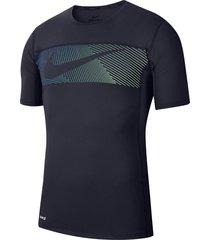 camiseta azul oscuro nike baselayer 2.0hombre