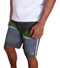 pantaloneta hurley phantom cove bdst in para hombre - verde