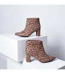 botin punta bowen mercedes campuzano de mujer-estampado leopardo