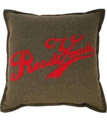readymade travesseiro com estampa de logo - verde