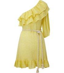 arden mini dress in yellow