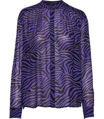 elmy shirt aop 9695 blouse lange mouwen paars samsøe & samsøe
