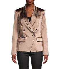 l'agence women's kenzie double-breasted blazer - hazelwood - size 0