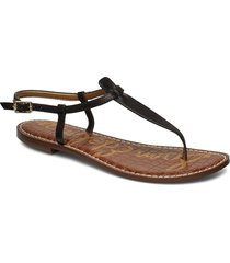 gigi shoes summer shoes flat sandals svart sam edelman