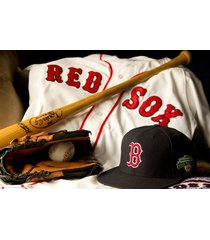 boston red sox  jersey, bat, glove & hat   2.5 x 3.5 fridge magnet