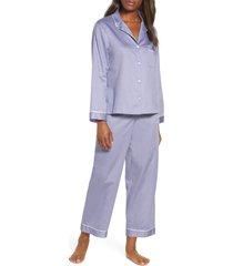 women's natori essentials sateen pajamas, size x-large - blue
