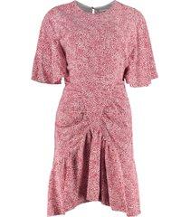 isabel marant étoile osias printed viscose dress