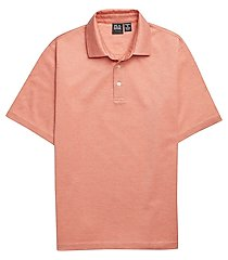 traveler performance traditional fit short sleeve men's polo shirt clearance