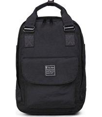 mochila femenina de gran capacidad de computadora-negro