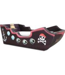 cama infantil pirata - cama carro marrom