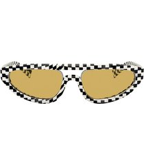 alain mikli aviator frame cat-eye sunglasses - black