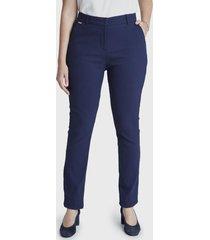pantalón formal pierna recta azul lorenzo di pontti