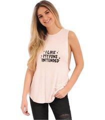 blusa lucy rosé pistol para mujer - rosado