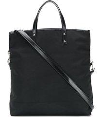 saint laurent ysl folding shopper tote - black