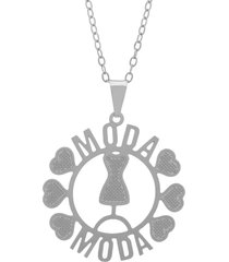 gargantilha horus import profissões moda banhada prata - 2060202