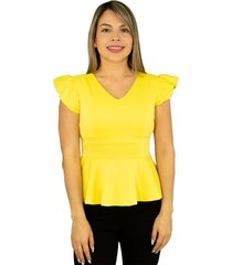 blusa dama elegante cola de pato - 77101115