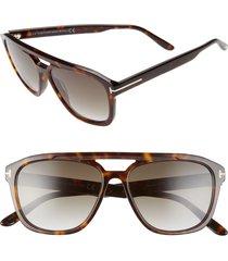 men's tom ford gerrard 56mm aviator sunglasses -