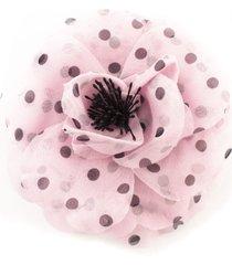 philosophy di lorenzo serafini rose-shaped bijoux brooch