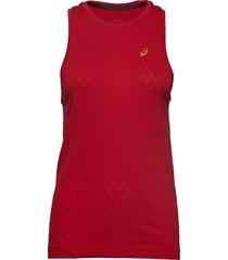 gel-cool sleeveless t-shirts & tops sleeveless röd asics