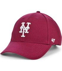 '47 brand new york mets cardinal mvp cap