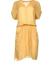 jurk met plooien kiara  geel