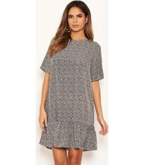 ax paris women's floral frill hem shift dress